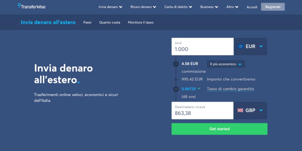 inviare denaro all'estero