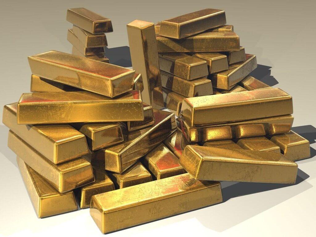 lingotti d'oro fisico